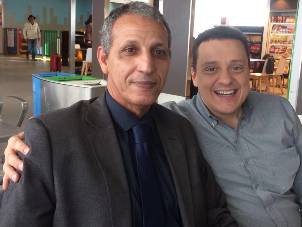 Abdellahi Mohamed Salem, rappresentante toscano della Repubblica Saharawi e Damiano Sforzi, Vicesindaco del Comune Sesto Fiorentino