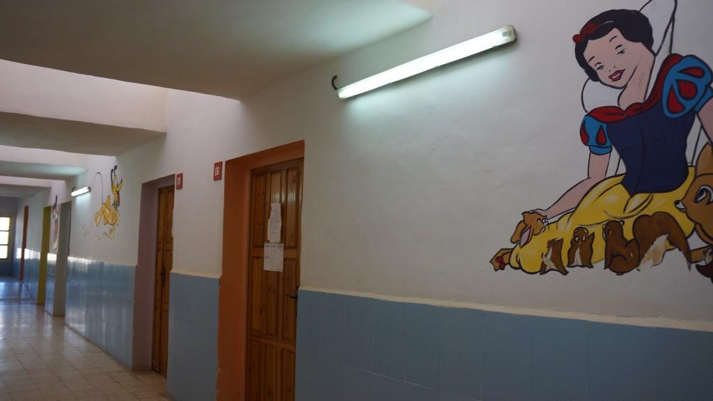 Reparto pediatria dell'ospedale centrale presso Rabuni