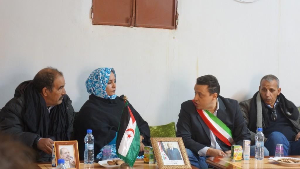Incontro tra la Governatrice della wilaya  di Auserd e il vicesindaco Damiano Sforzi