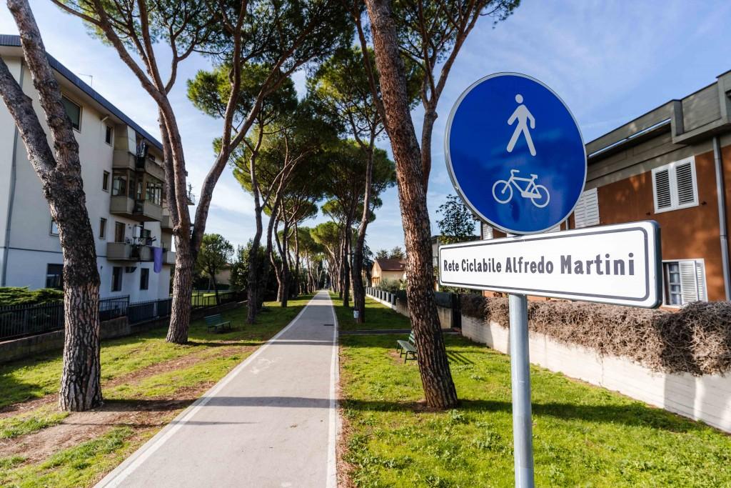 la pista ciclabile che attraversa Sesto